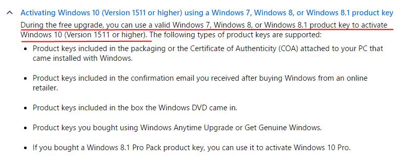 windows 7 pro key to activate windows 10